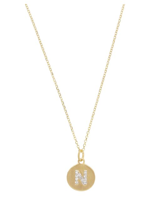 KC Designs - Metallic Gold And Diamond Letter N Disc Pendant Necklace - Lyst