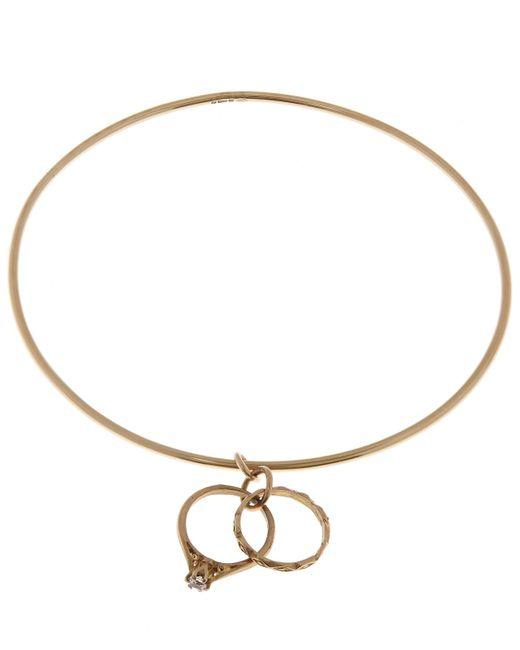 Annina Vogel | Metallic Gold Vintage Ring Charm Bangle | Lyst