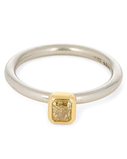 Kojis - Metallic Gold Fancy Yellow Diamond Ring - Lyst