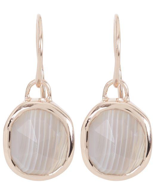 Monica Vinader | Metallic Rose Gold-plated Grey Agate Siren Wire Earrings | Lyst