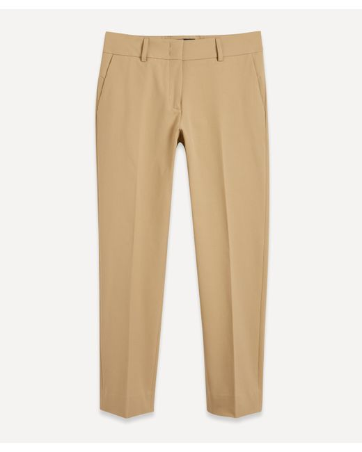Piazza Sempione Natural Classic Solid Colour Trousers