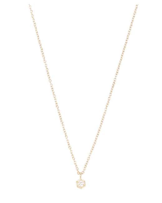 Satomi Kawakita - Metallic Gold Baby Hexagon White Diamond Necklace - Lyst