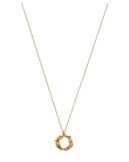 Alex Monroe - Metallic Gold-plated Floral Letter O Alphabet Necklace - Lyst