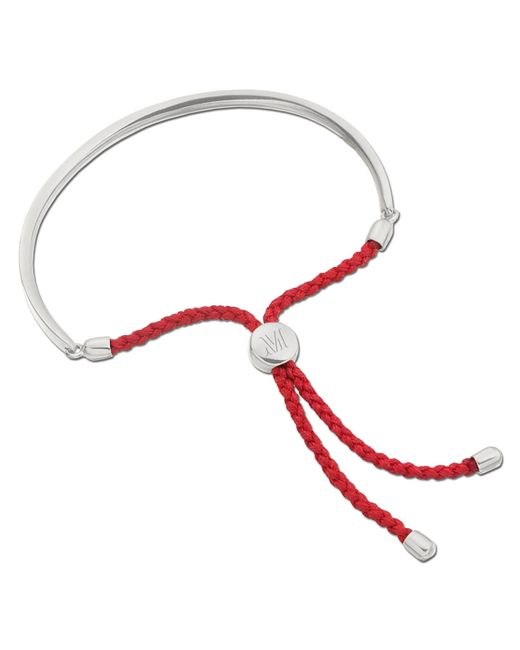 Monica Vinader | Red Fiji Pave Bracelet | Lyst