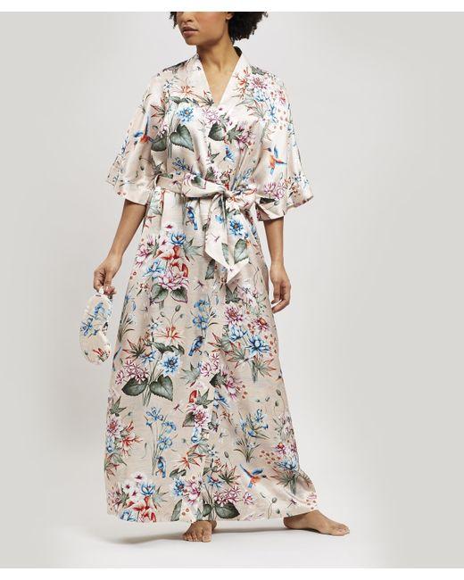 Liberty Pink Keiko Silk Charmeuse Long Kimono