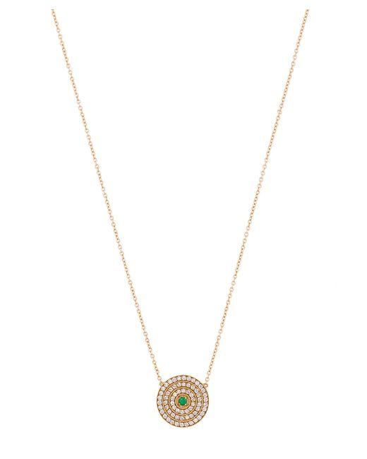 Andrea Fohrman - Metallic Gold Double Rainbow Multi-stone Disc Necklace - Lyst