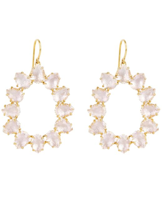 Larkspur & Hawk - Multicolor Gold-washed Caterina White Quartz Small Frame Drop Earrings - Lyst