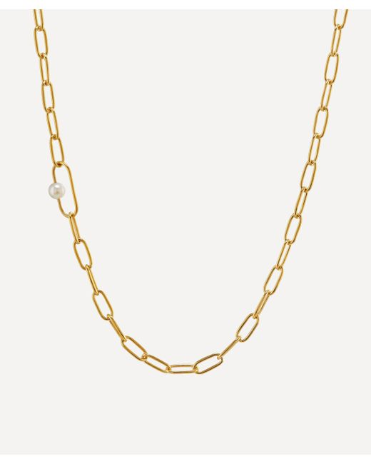 Alex Monroe Metallic X Raven Smith Gold-plated Pea Large Link Pearl Necklace for men