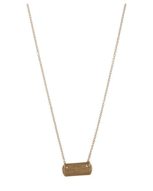 Annina Vogel - Metallic Gold Vintage All That Glitters Plaque Necklace - Lyst