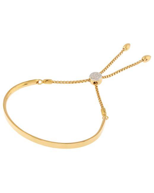 Monica Vinader - Metallic Diamond Pave Fiji Toggle Bracelet - Lyst