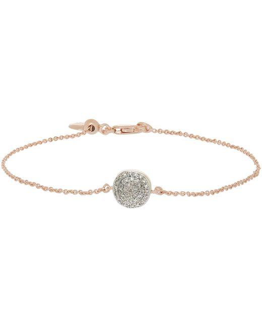 Monica Vinader - Multicolor Rose Gold Vermeil Diamond Ava Button Bracelet - Lyst