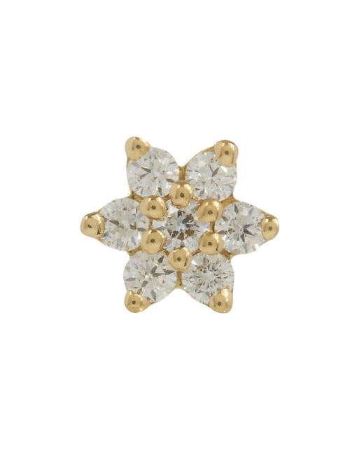 Maria Tash - Metallic 4.5mm Diamond Flower Thread Stud - Lyst