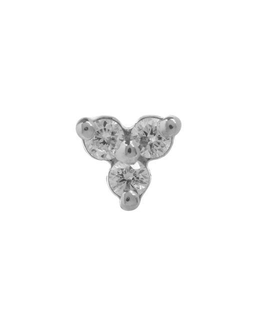 Maria Tash Multicolor Diamond Trinity Threaded Stud Earring