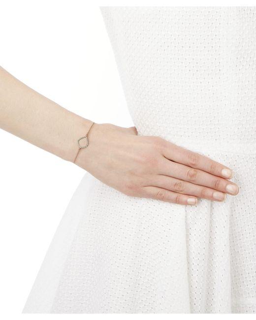 Monica Vinader Metallic Rose Gold Plated Vermeil Silver Riva Diamond Kite Chain Bracelet