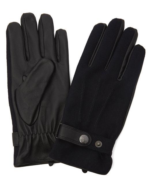 Dents Blue Guildford Flannel Leather Gloves for men