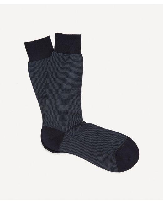 Pantherella Blue Tewkesbury Birdseye Socks for men
