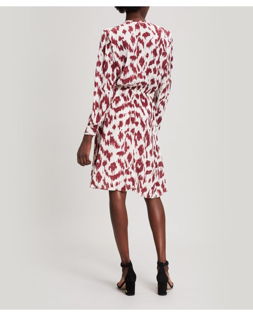 étoile Isabel Marant Yandra Ikat Silk Dress In Red Lyst