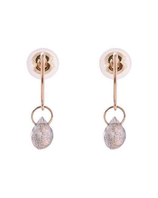 Melissa Joy Manning - Metallic Gold Labradorite Hoop Drop Earrings - Lyst