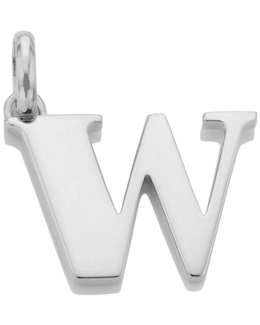 Monica Vinader - Metallic Silver Alphabet Pendant W - Lyst