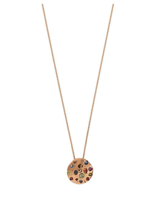 Polly Wales - Metallic Rose Gold Rainbow Spinning Disc Pendant Necklace - Lyst