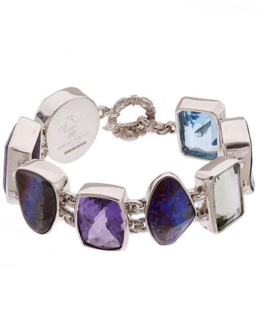 Stephen Dweck | Metallic Silver Boulder Opal Multi-stone Bracelet | Lyst
