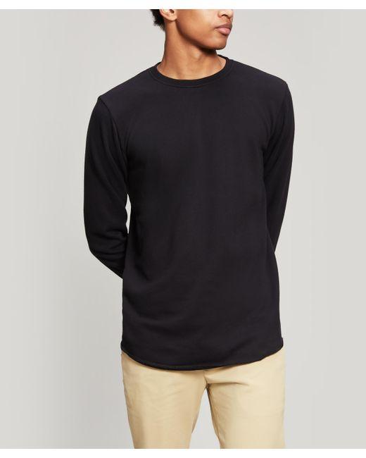 Edwin Black Terry Rib Crew-neck Sweater for men