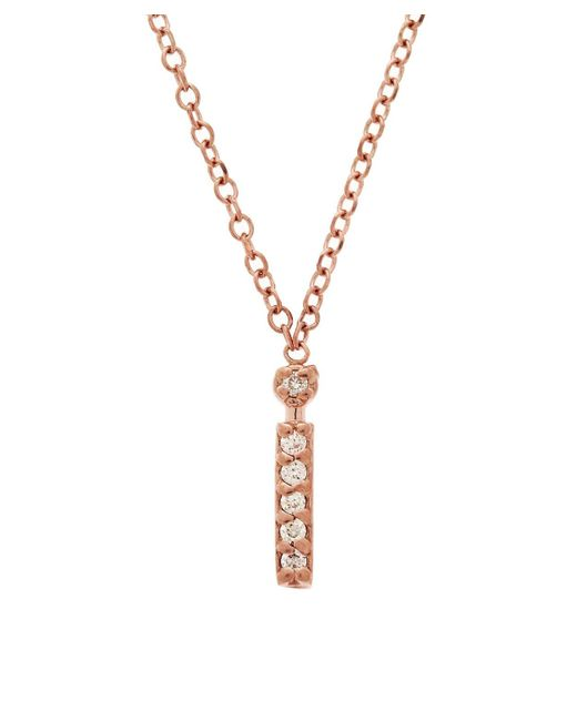 KC Designs - Metallic Rose Gold Diamond Letter I Necklace - Lyst