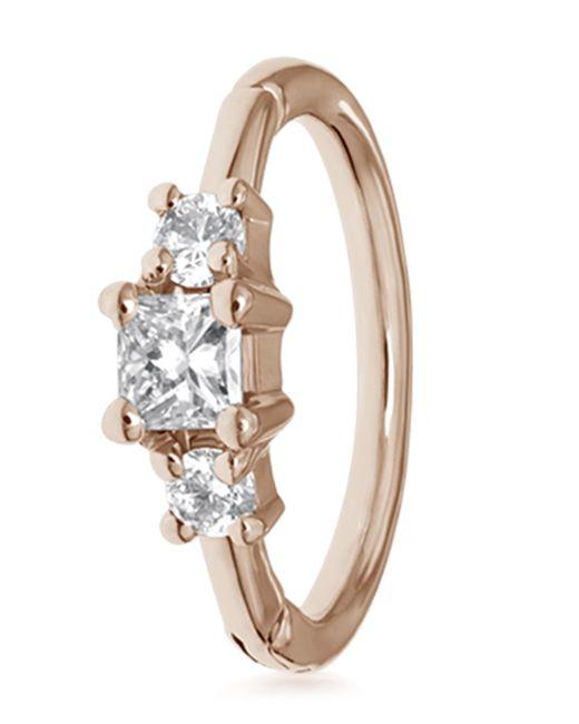 Maria Tash Multicolor 2mm Diamond Princess Ring