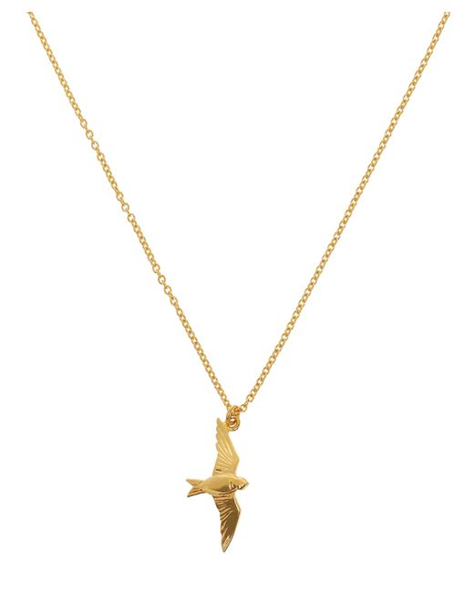 Alex Monroe - Metallic Gold-plated Flying Swallow Necklace - Lyst