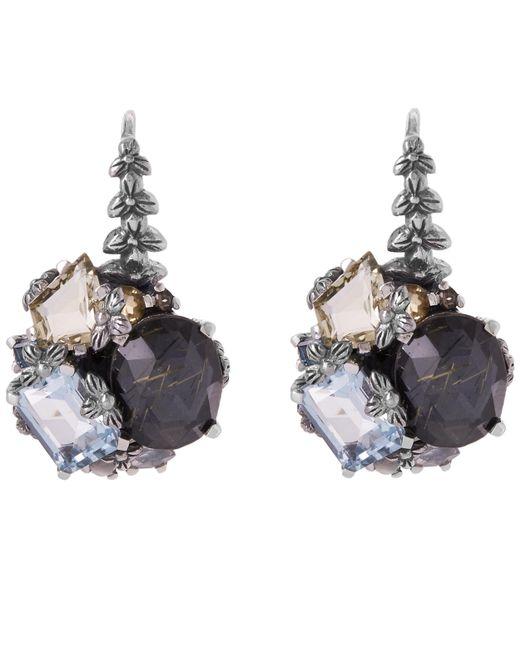 Stephen Dweck - Metallic Silver Rutilated Quartz Cluster Earrings - Lyst