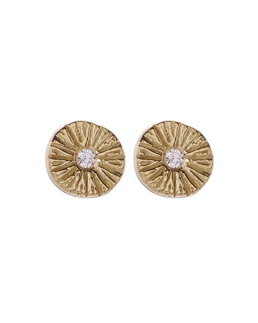 Satomi Kawakita - Metallic White Diamond Medium Sunburst Stud Earrings - Lyst