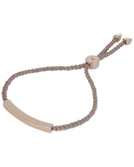 Monica Vinader - Multicolor Rose Gold-plated Linear Rose Metallica Cord Friendship Bracelet - Lyst