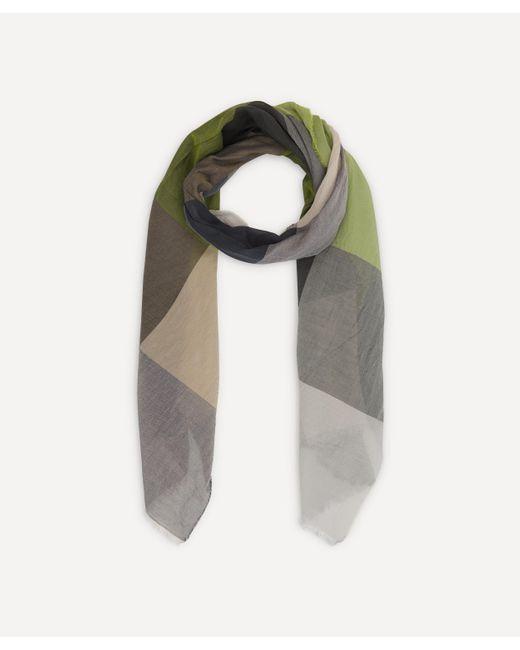 Nick Bronson Gray Colour Block Cotton Scarf for men