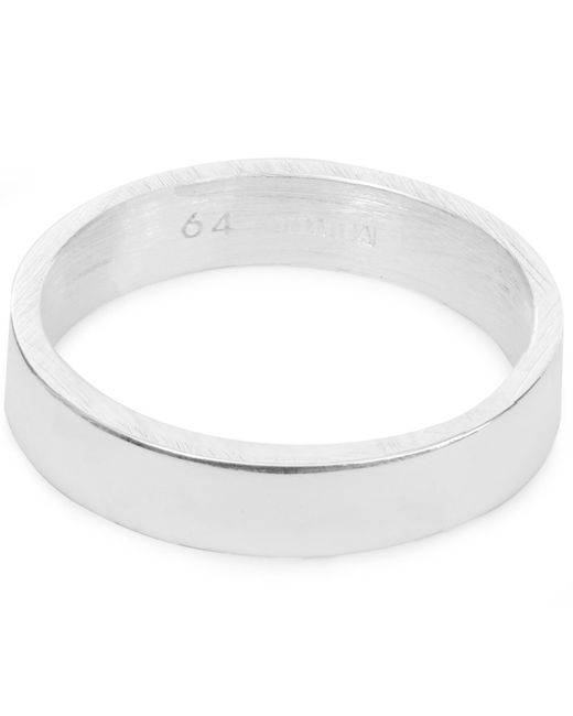 All_blues | Metallic Silver Mixed Finish Ring | Lyst
