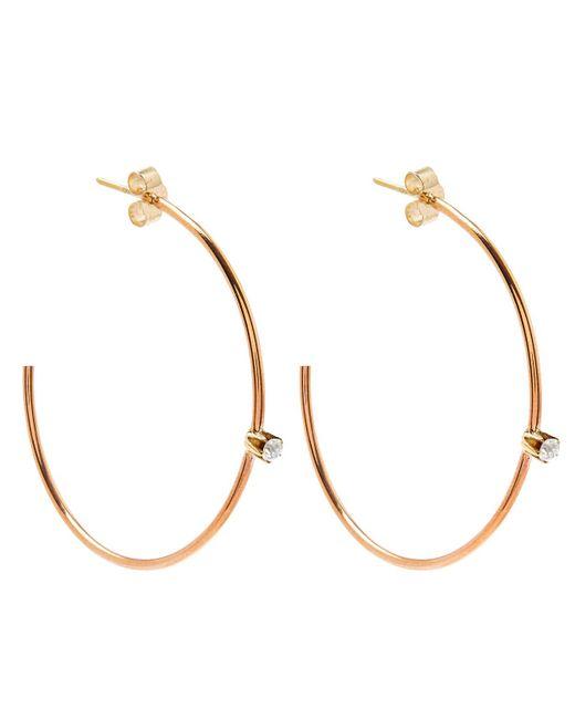 Annina Vogel - Metallic Gold Diamond Hoop Earrings - Lyst