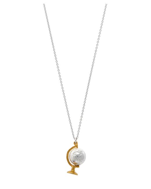 Alex Monroe - Multicolor Sterling Silver Spinning Globe Necklace - Lyst