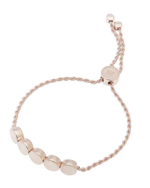Monica Vinader - Metallic Rose Gold-plated Linear Bead Chain Friendship Bracelet - Lyst