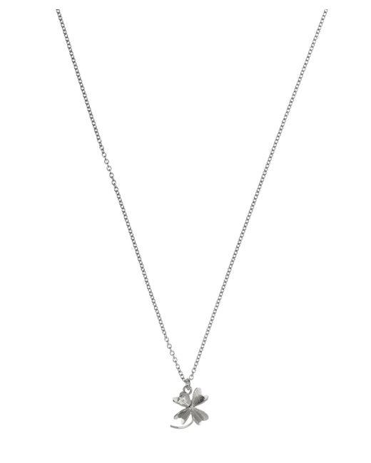 Alex Monroe - Metallic Silver Baby Lucky Clover Necklace - Lyst