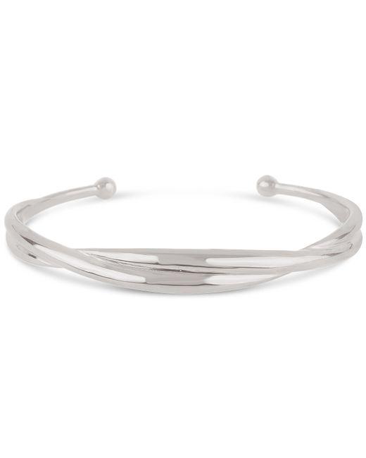 Dinny Hall - Metallic Silver Twist Cuff Bracelet - Lyst