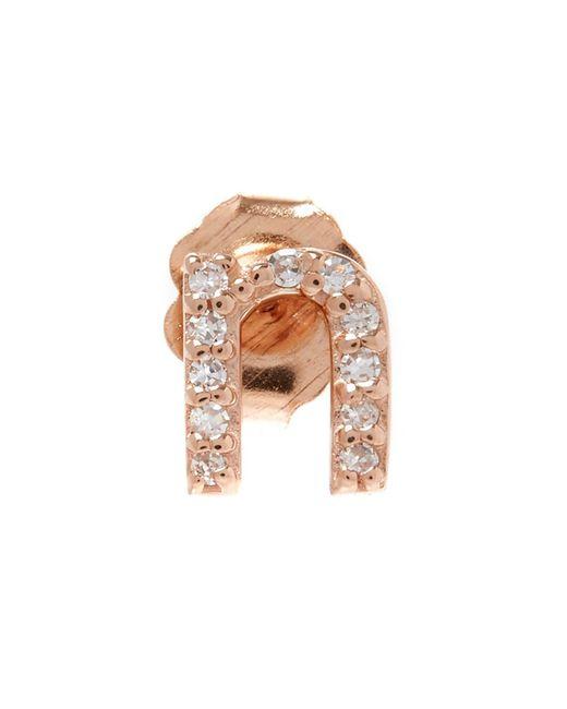 KC Designs - Multicolor Rose Gold Diamond M Single Stud Earring - Lyst