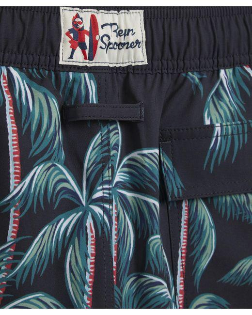 Reyn Spooner Men's Black Tahiti By The Sea Print Swim Shorts