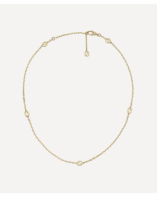 Gucci Metallic Gold Interlocking G Necklace