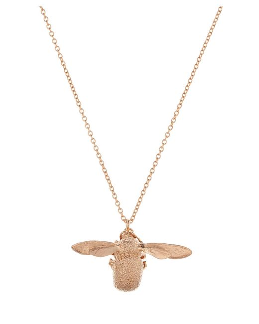 Alex Monroe - Metallic Rose Gold-plated Bumblebee Necklace - Lyst