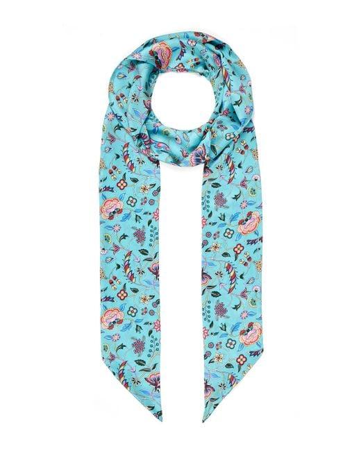Liberty - Blue Astrid 10 X 200 Silk Twill Scarf - Lyst