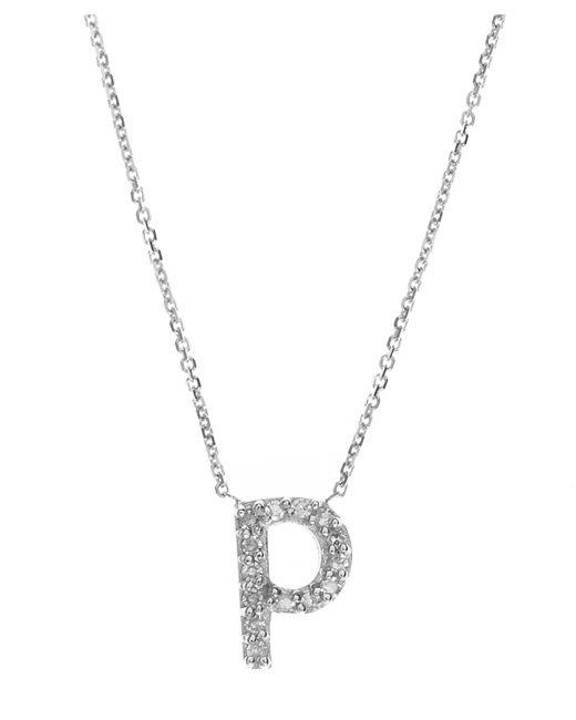 KC Designs - Multicolor White Gold Diamond Letter P Necklace - Lyst