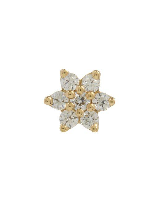 Maria Tash - Multicolor 3mm Diamond Flower Threaded Stud Earring - Lyst
