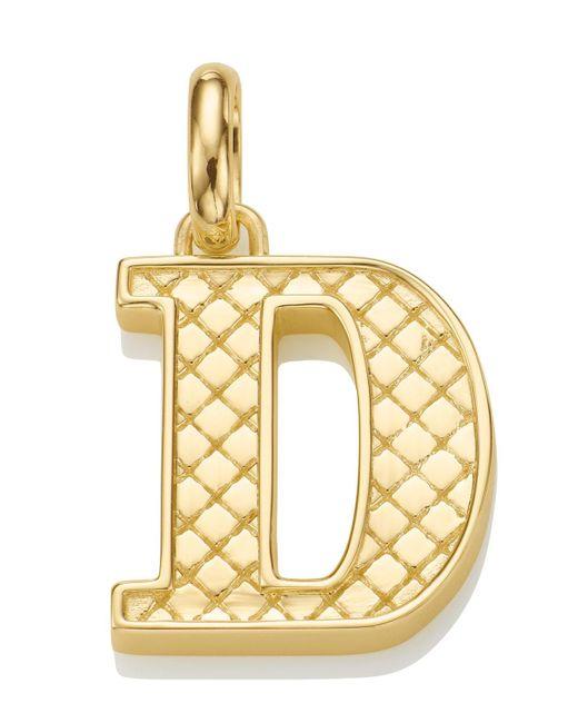Monica Vinader | Metallic Gold-plated Alphabet Pendant A-z | Lyst