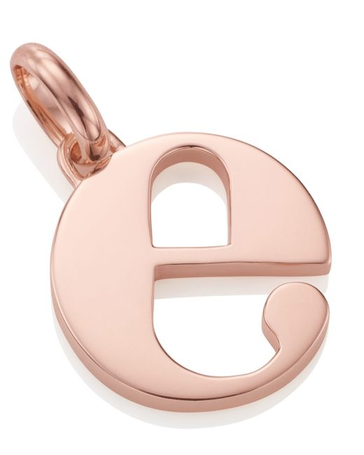 Monica Vinader | Pink Rose Gold-plated Alphabet Pendant E | Lyst