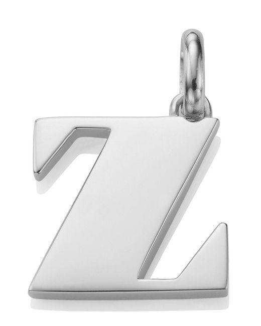 Monica Vinader | Metallic Silver Alphabet Pendant Z | Lyst
