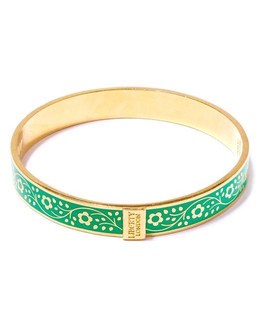 Liberty | Green Pemberley Solid Floral Bracelet | Lyst